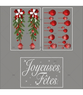 lot-promotionnel-3-stickers-vitrine-noel-intemporel-frises-boules-rouges-suspensions-sapin-texte-joyeuses-fetes-electrostatique-sans-colle-repositionnable-DECO-VITRES-KIT307