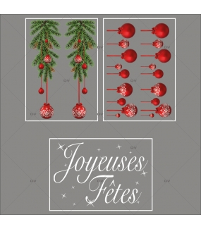 lot-promotionnel-3-stickers-vitrine-noel-intemporel-frises-boules-rouges-suspensions-sapin-texte-joyeuses-fetes-electrostatique-sans-colle-repositionnable-DECO-VITRES-KIT2