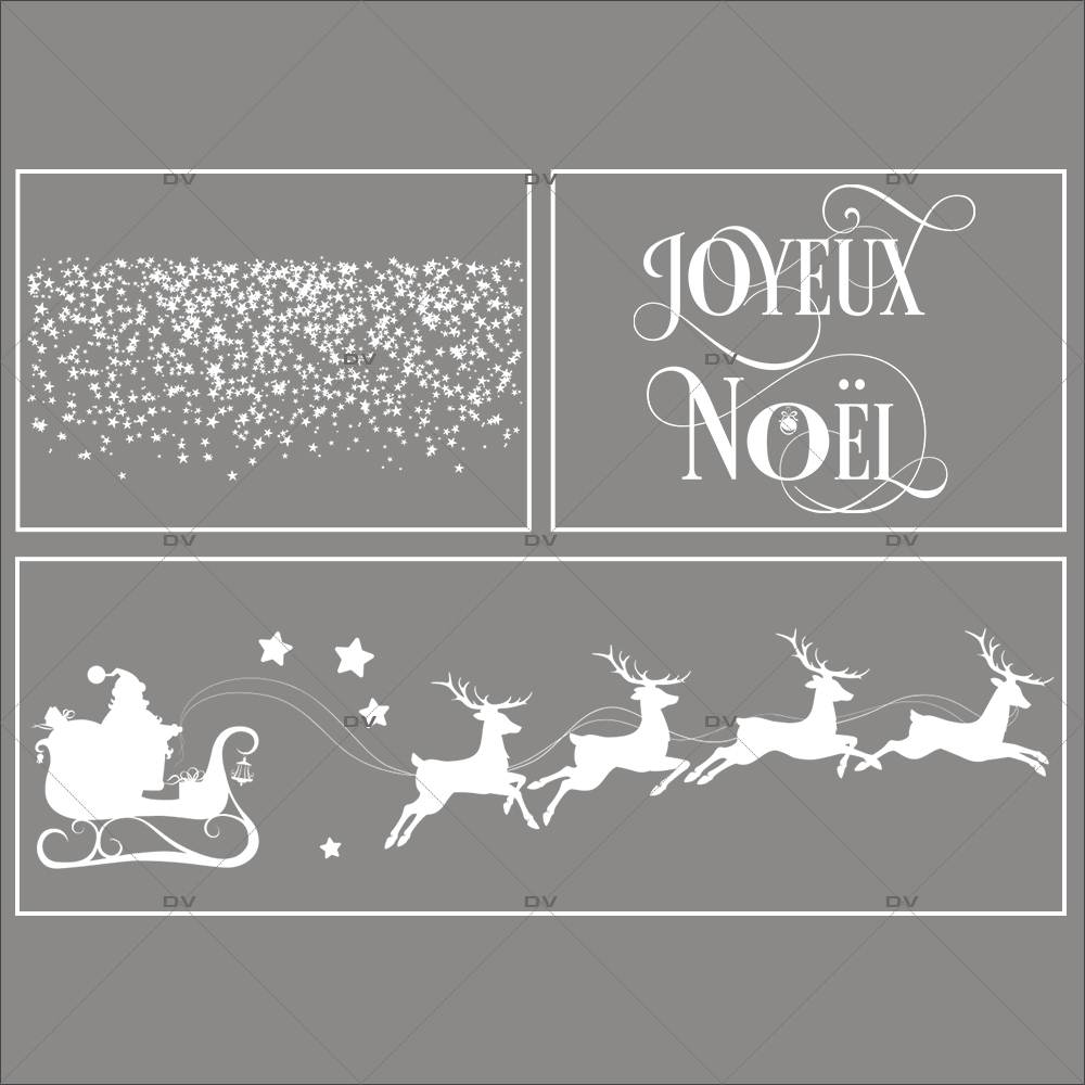 Lot-promotionnel-3-stickers-vitrine-noel-etoile-traineau-rennes-du-pere-noel-joyeux-noel-frises-etoiles-electrostatique-sans-colle-repositionnable-DECO-VITRES-KIT79