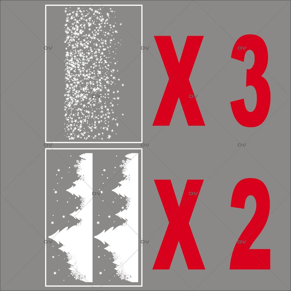 Lot-promotionnel-5-stickers-vitrine-noel-etoile-frises-neige-sapins-etoiles-electrostatique-sans-colle-repositionnable-DECO-VITRES-KIT82