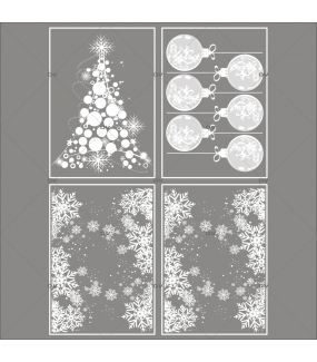 lot-promotionnel-4-stickers-vitrine-noel-opalescent-frises-entourage-cristaux-sapin-boules-geantes-effet-depoli-electrostatique-sans-colle-repositionnable-DECO-VITRES-KIT7