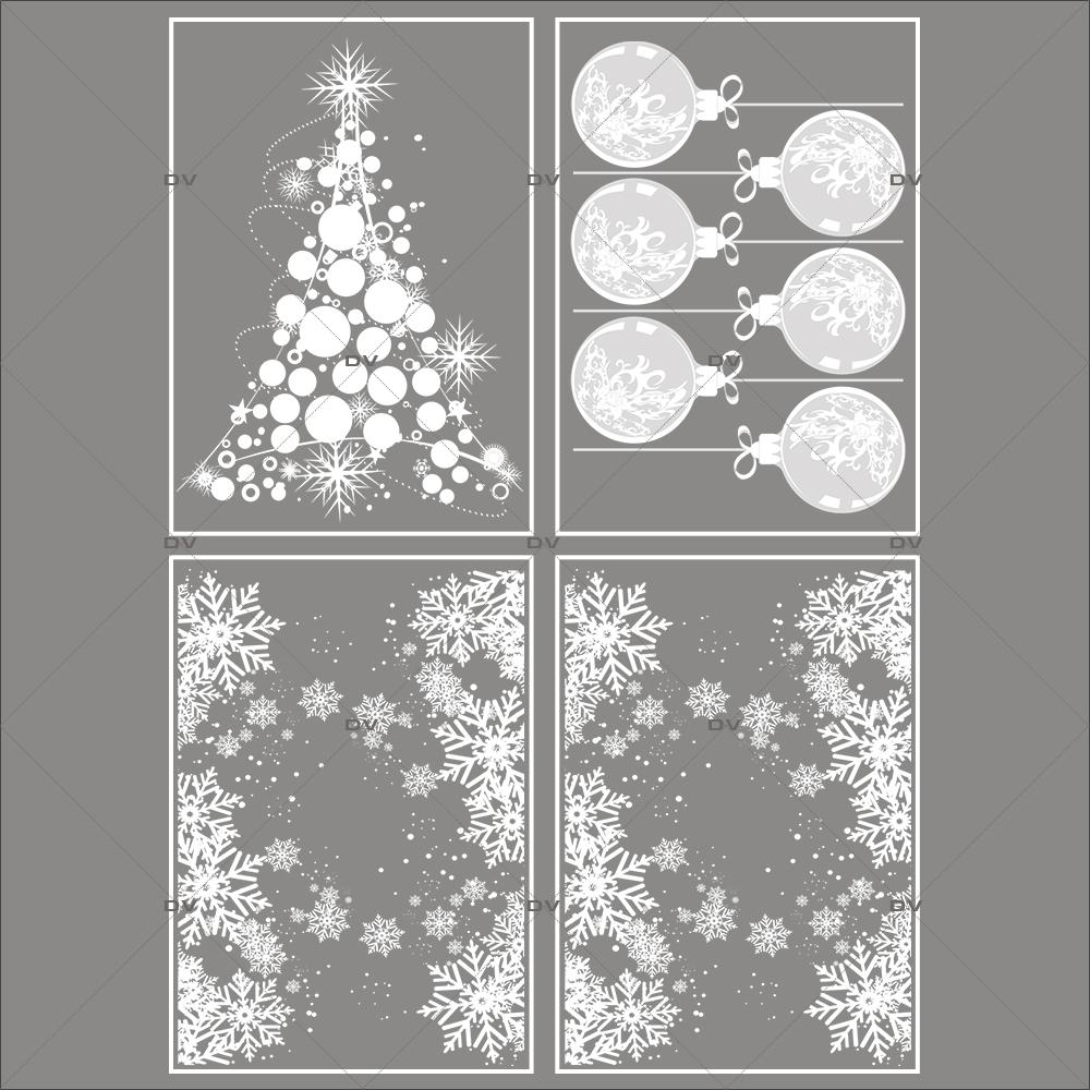 lot-promotionnel-4-stickers-vitrine-noel-opalescent-frises-entourage-cristaux-sapin-boules-geantes-effet-depoli-electrostatique-sans-colle-repositionnable-DECO-VITRES-KIT7