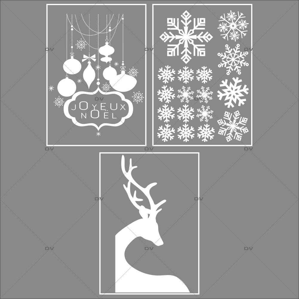 lot-promotionnel-3-stickers-vitrine-noel-paysage-givre-cristaux-suspensions-boules--enseigne-joyeux-noel-renne-angle-electrostatique-sans-colle-repositionnable-DECO-VITRES-KIT121