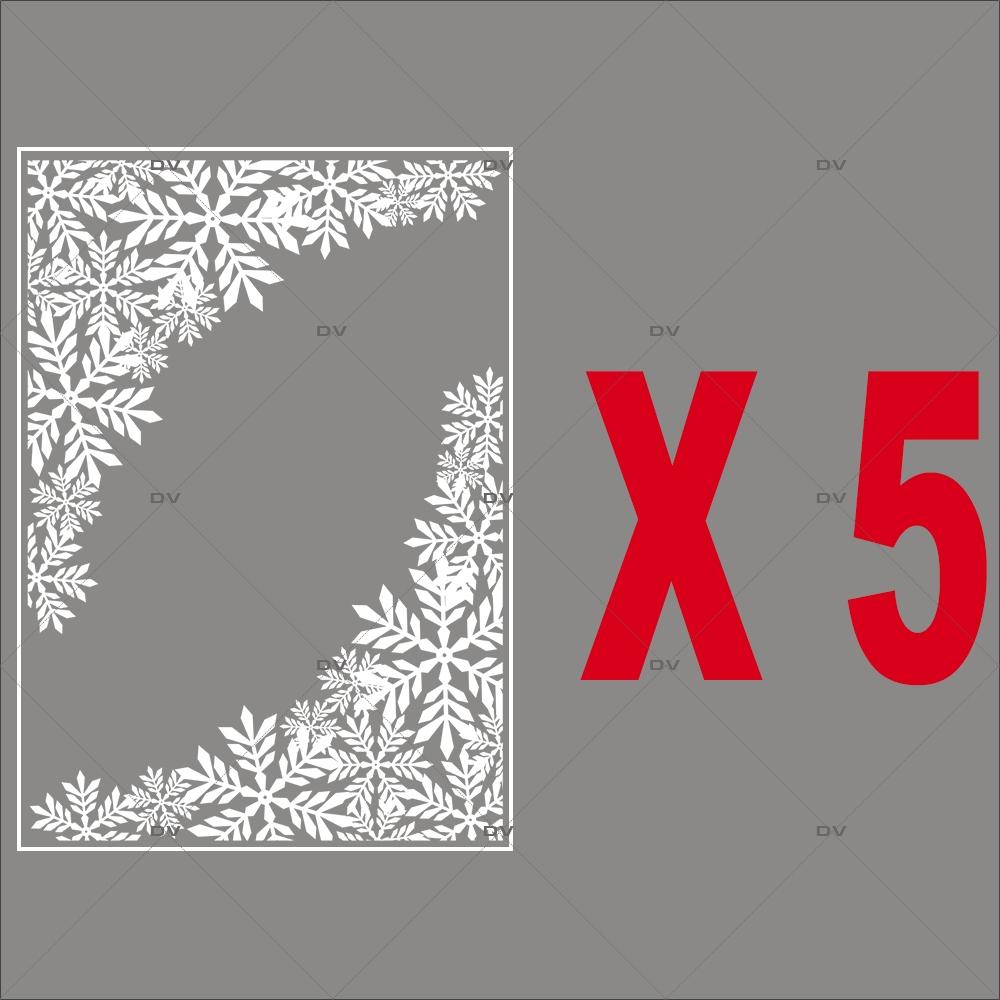 lot-promotionnel-5-stickers-angles-de-cristaux-entourage-vitrine-noel-electrostatique-vitrophanie-sans-colle-DECO-VITRES-PACK16