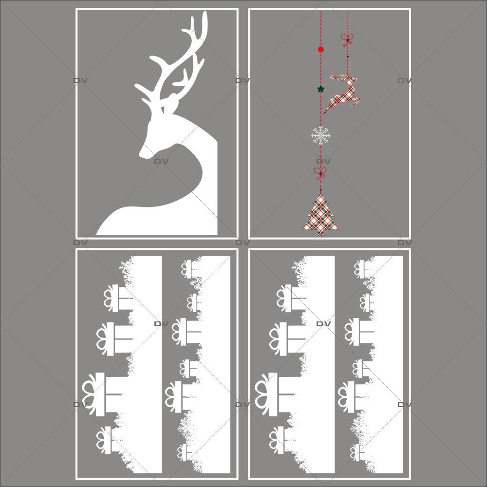lot-promotionnel-4-stickers-vitrine-noel-ecossais-frises-cadeaux-cristaux-suspensions-decors-noel-renne-d-angle-electrostatique-sans-colle-repositionnable-DECO-VITRES-KIT28