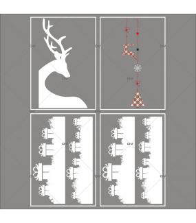 lot-promotionnel-4-stickers-vitrine-noel-ecossais-frises-cadeaux-cristaux-suspensions-decors-noel-renne-d-angle-electrostatique-sans-colle-repositionnable-DECO-VITRES-KIT27