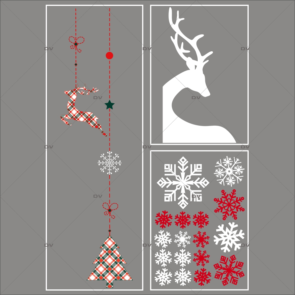 lot-promotionnel-3-stickers-vitrine-noel-ecossais--suspensions-decors-noel-renne-d-angle-cristaux-electrostatique-sans-colle-repositionnable-DECO-VITRES-KIT30