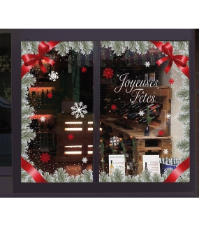 vitrine-decoration-noel-pin-givre-sticker-electrostatique-vitrophanie-cristaux-neige-flocons-noeud-ruban-deco-vitres