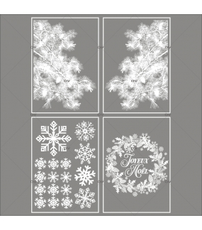lot-promotionnel-4-stickers-vitrine-noel-eternel-angles-pin-givre-couronne-texte-joyeux-noel-cristaux-electrostatique-sans-colle-repositionnable-DECO-VITRES-KIT135