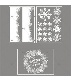 lot-promotionnel-3-stickers-vitrine-noel-sylvestre-cristaux-frises-neige-couronne-joyeux-noel-electrostatique-sans-colle-repositionnable-DECO-VITRES-KIT129