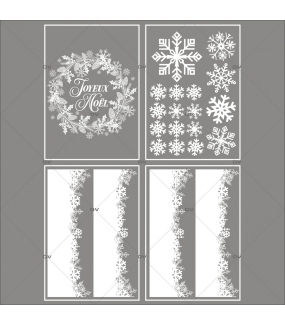 lot-promotionnel-3-stickers-vitrine-noel-sylvestre-frises-de-cristaux-couronne-pin-pignes-joyeux-noel-electrostatique-sans-colle-repositionnable-DECO-VITRES-KIT133
