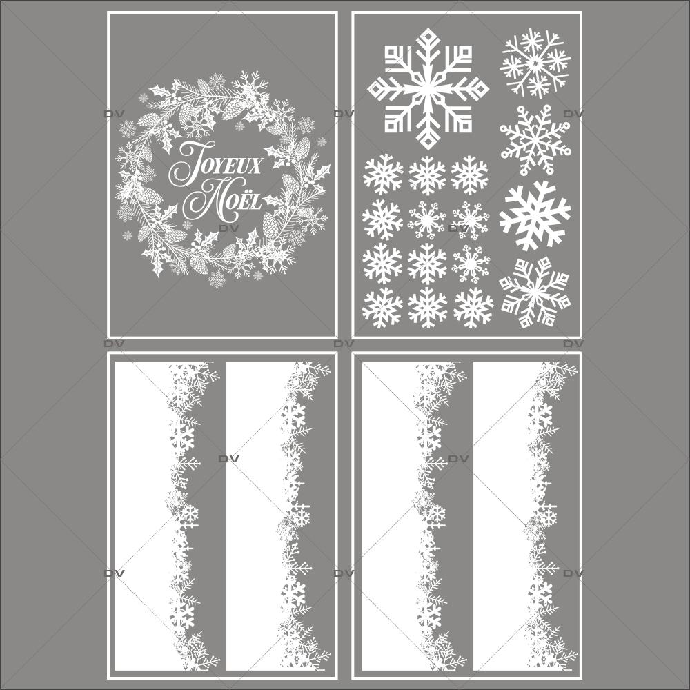 lot-promotionnel-3-stickers-vitrine-noel-sylvestre-frises-de-cristaux-couronne-pin-pignes-joyeux-noel-electrostatique-sans-colle-repositionnable-DECO-VITRES-KIT133