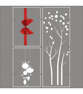 lot-promotionnel-3-stickers-vitrine-noel-elegant-arbre-givre-suspensions-de-boules-et-cristaux-ruban-noeud-cadeau-rouge-electrostatique-sans-colle-repositionnable-DECO-VITRES-KIT46