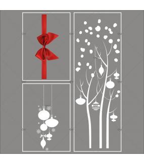 lot-promotionnel-3-stickers-vitrine-noel-elegant-arbre-givre-suspensions-de-boules-et-cristaux-ruban-noeud-cadeau-rouge-electrostatique-sans-colle-repositionnable-DECO-VITRES-KIT48