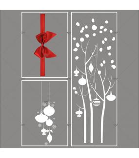 lot-promotionnel-3-stickers-vitrine-noel-elegant-arbre-givre-suspensions-de-boules-et-cristaux-ruban-noeud-cadeau-rouge-electrostatique-sans-colle-repositionnable-DECO-VITRES-KIT49