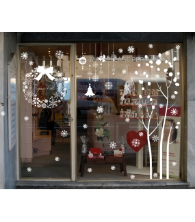 photo-vitrine-stickers-noel-blanc-pur-arbre-boules-couronne-texte-joyeux-noel-suspensions-neige-cristaux-flocons-ange-sapin-vitrophanie-electrostatique-repositionnable-reutilisable-sans-colle-DECO-VITRES