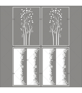 lot-promotionnel-4-stickers-vitrine-noel-delicat-cristaux-frises-de-neige-entourage-de-vitrine-arbres-givres-electrostatique-sans-colle-repositionnable-DECO-VITRES-KIT143