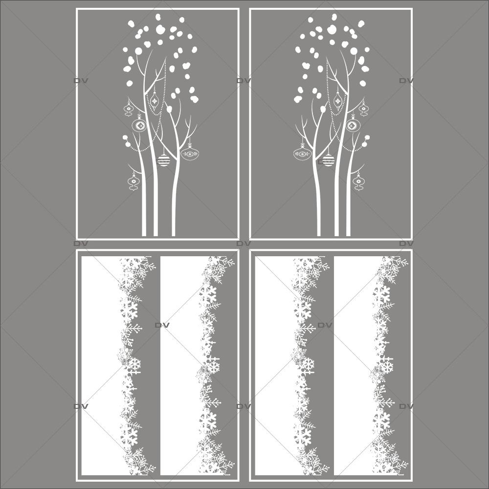 lot-promotionnel-4-stickers-vitrine-noel-delicat-cristaux-frises-de-neige-entourage-de-vitrine-arbres-givres-electrostatique-sans-colle-repositionnable-DECO-VITRES-KIT143