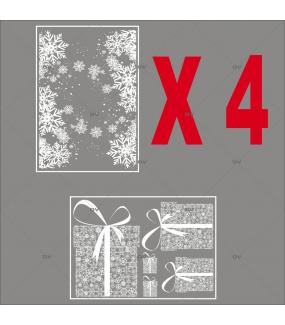 Lot-promotionnel-4-stickers-vitrine-noel-boudoir-pancarte-joyeux-noel-frises-de-cristaux-entourage-vitrine-paquets-cadeaux-electrostatique-sans-colle-repositionnable-DECO-VITRES-KIT25