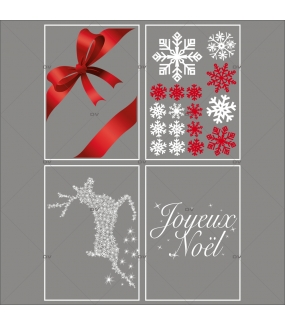 lot-promotionnel-4-stickers-vitrine-noel-shopping-rouge-blanc-cristaux-noeud-rouge-ruban-cadeau-joyeux-noel-renne-electrostatique-sans-colle-repositionnable-DECO-VITRES-KIT61