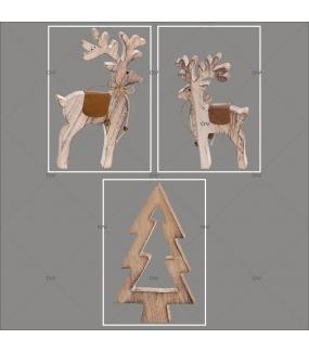 lot-promotionnel-3-stickers-vitrine-noel-chalet-bois-rennes-sapin-electrostatique-sans-colle-repositionnable-DECO-VITRES-KIT34