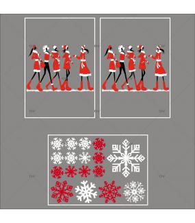 lot-promotionnel-3-stickers-vitrine-noel-fashion-mannequin-filles-shopping-de-noel-sports-d-hiver-cristaux-blancs-rouge-irise-electrostatique-sans-colle-repositionnable-DECO-VITRES-KIT52