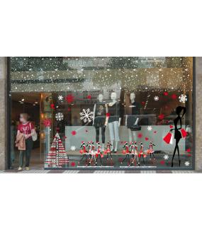 vitrine-sticker-electrostatique-vitrophanie-noel-flocons-cristaux-neige-sapin-mannequins-girls-shopping-noel-fashion-deco-vitres