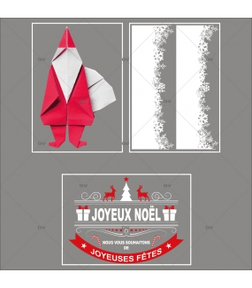 lot-promotionnel-3-stickers-vitrine-noel-origami-cristaux-frises-neige-pere-noel-banniere-joyeux-noel-electrostatique-sans-colle-repositionnable-DECO-VITRES-KIT97