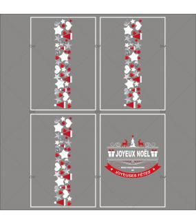 lot-promotionnel-4-stickers-vitrine-noel-origami-frises-coeurs-bonnets-etoiles-banniere-texte-joyeux-noel-joyeuses-fetes-electrostatique-sans-colle-repositionnable-DECO-VITRES-KIT99