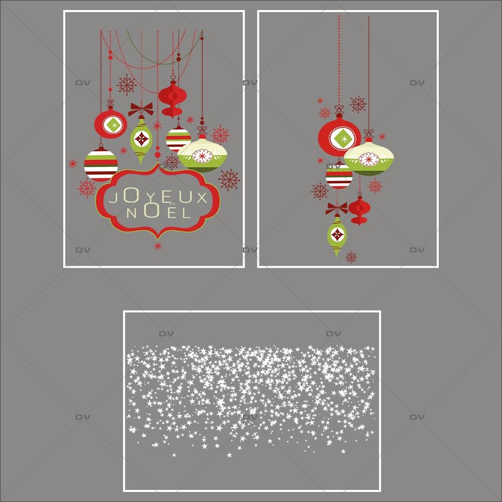 Lot-promotionnel-3-stickers-vitrine-noel-contemporain-enseigne-joyeux-noel-suspensions-de-boules-rouge-vert-frises-etoiles-electrostatique-sans-colle-repositionnable-DECO-VITRES-KIT116