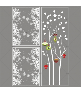 Lot-promotionnel-3-stickers-vitrine-noel-contemporain-arbre-givre-et-boules-rouges-vertes-frises-de-cristaux-electrostatique-sans-colle-repositionnable-DECO-VITRES-KIT119