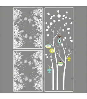 Lot-promotionnel-3-stickers-vitrine-noel-moderne-arbre-givre-boules-de-noel-bleu-vert-anis-frises-de-cristaux-entourage-de-vitrine-electrostatique-sans-colle-repositionnable-DECO-VITRES-KIT321