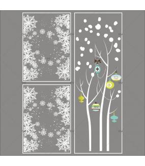 Lot-promotionnel-3-stickers-vitrine-noel-moderne-arbre-givre-boules-de-noel-bleu-vert-anis-frises-de-cristaux-entourage-de-vitrine-electrostatique-sans-colle-repositionnable-DECO-VITRES-KIT320