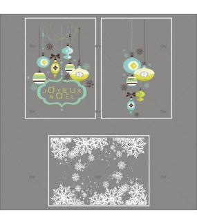 Lot-promotionnel-3-stickers-vitrine-noel-moderne-enseigne-texte-joyeux-noel-suspensions-boules-de-noel-bleu-vert-anis-frises-de-cristaux-entourage-de-vitrine-electrostatique-sans-colle-repositionnable-DECO-VITRES-KIT318