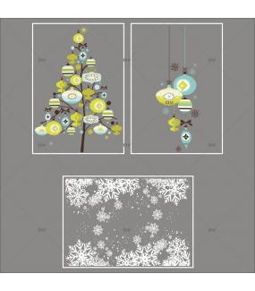 Lot-promotionnel-3-stickers-vitrine-noel-moderne-sapin-suspensions-boules-de-noel-bleu-vert-anis-frises-de-cristaux-entourage-de-vitrine-electrostatique-sans-colle-repositionnable-DECO-VITRES-KIT319