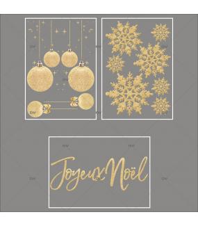 lot-promotionnel-3-stickers-vitrine-noel-dore-cristaux-frises-de-boules-dorees-texte-joyeux-noel-electrostatique-sans-colle-repositionnable-DECO-VITRES-KIT56