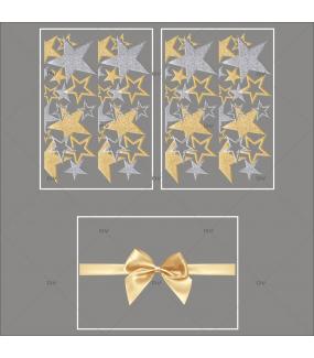 lot-promotionnel-3-stickers-vitrine-noel-dore-frises-etoiles-dorees-et-argentees-texte-ruban-noeud-cadeau-or-noel-electrostatique-sans-colle-repositionnable-DECO-VITRES-KIT57