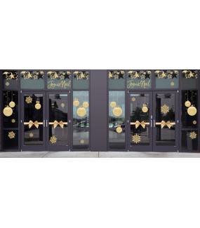 photo-decoration-vitrine-noel-or-et-noir-noeud-cadeau-etoiles-boules-texte-joyeux-noel-paillettes-vitrophanie-electrostatique-reutilisable-DECO-VITRES