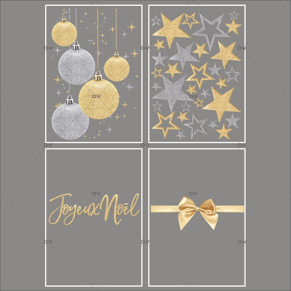 lot-promotionnel-4-stickers-vitrine-noel-dore-etoiles-dorees-et-argentees-suspensions-boules-de-noel-ruban-noeud-cadeau-or-electrostatique-sans-colle-repositionnable-DECO-VITRES-KIT59