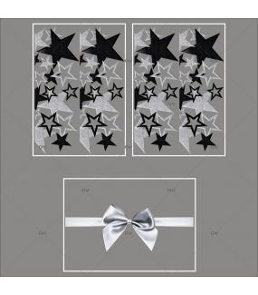lot-promotionnel-3-stickers-vitrine-noel-argente-frises-etoiles-argentees-et-noires-ruban-noeud-cadeau-argent-noel-electrostatique-sans-colle-repositionnable-DECO-VITRES-KIT93