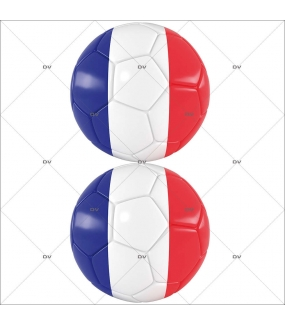 Sticker-ballons-de-foot-drapeau-français-France-vitrophanie-décoration-vitrine-événementielle-électrostatique-sports-fêtes-sans-colle-repositionnable-réutilisable-DECO-VITRES