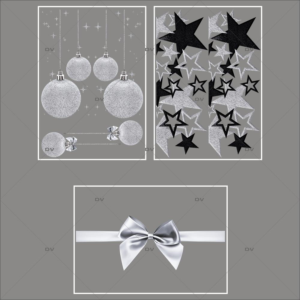 lot-promotionnel-3-stickers-vitrine-noel-argente-frises-boules-et-etoiles-argentees-et-noires-ruban-noeud-cadeau-argent-noel-electrostatique-sans-colle-repositionnable-DECO-VITRES-KIT94