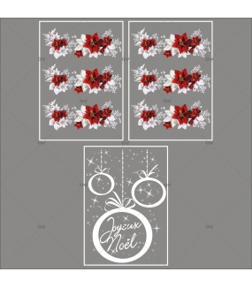 lot-promotionnel-3-stickers-vitrine-noel-russe-frises-poinsettias-cristaux-et-feuilles-givrees-suspensions-boules-joyeux-noël-electrostatique-sans-colle-repositionnable-DECO-VITRES-KIT328