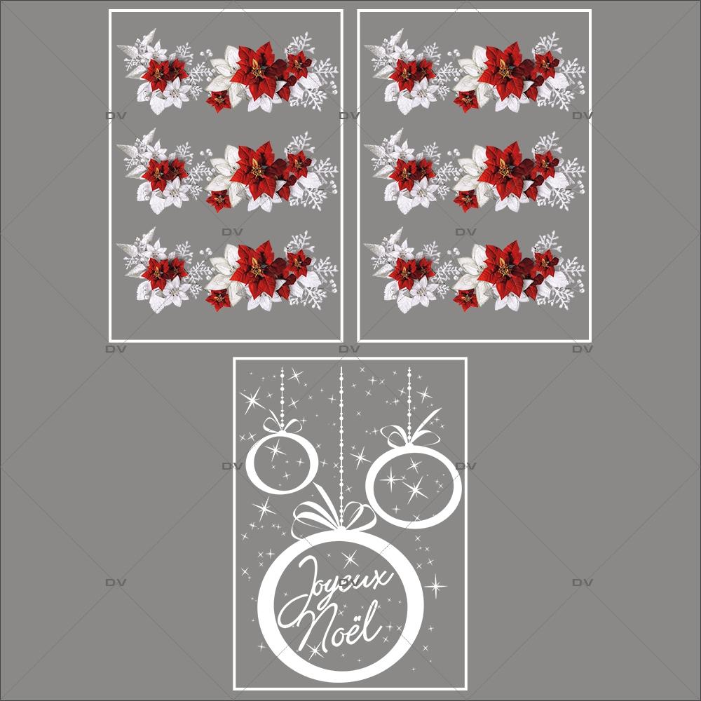 lot-promotionnel-3-stickers-vitrine-noel-russe-frises-poinsettias-cristaux-et-feuilles-givrees-suspensions-boules-joyeux-noël-electrostatique-sans-colle-repositionnable-DECO-VITRES-KIT328