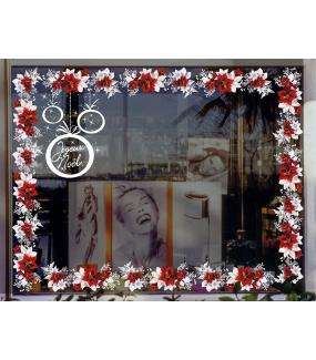 photo-vitrine-sticker-electrostatique-vitrophanie-noel-frise-poinsettia-fleur-givre-cristaux-feuille-boule-deco-vitres
