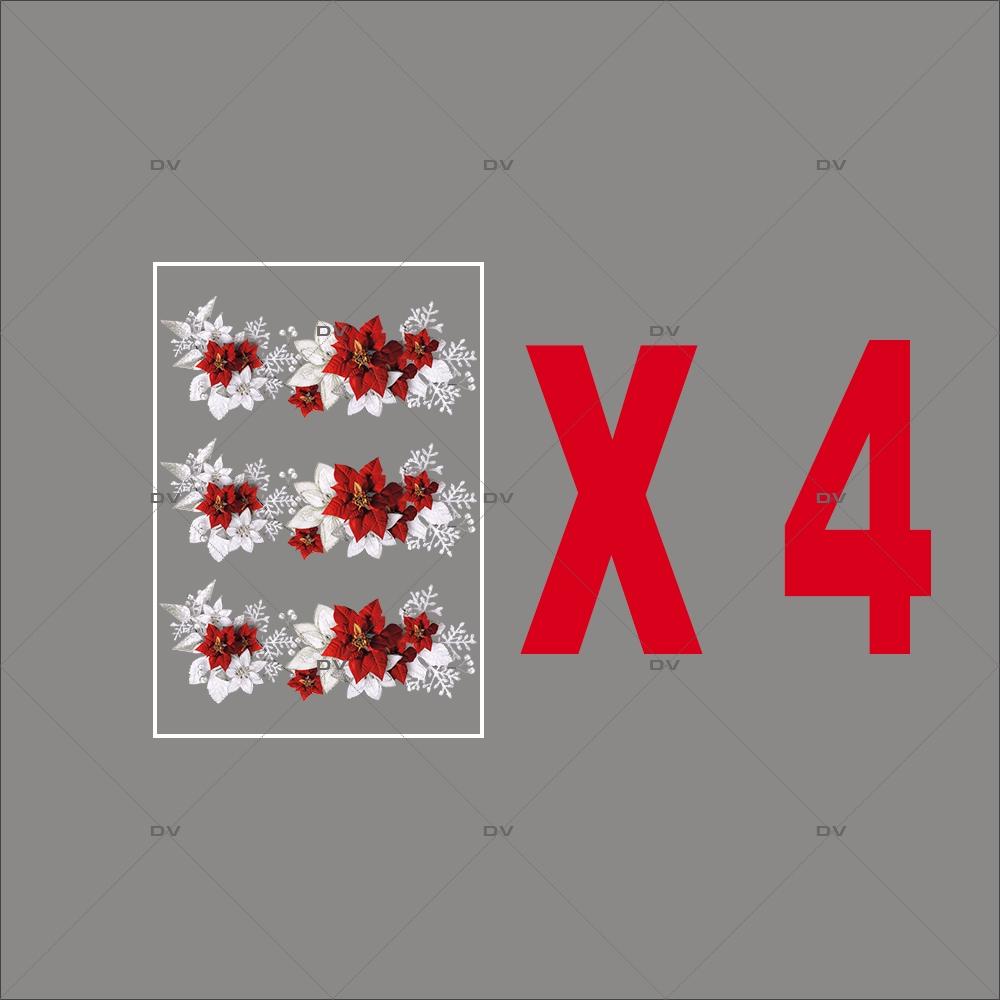 lot-promotionnel-4-stickers-vitrine-noel-russe-frises-poinsettias-cristaux-et-feuilles-givrees-electrostatique-sans-colle-repositionnable-DECO-VITRES-KIT329