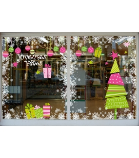 photo-decoration-vitrine-noel-girly-sapin-stylise-paquets-cadeau-boules-rose-vert-vitrophanie-electrostatique-DECO-VITRES