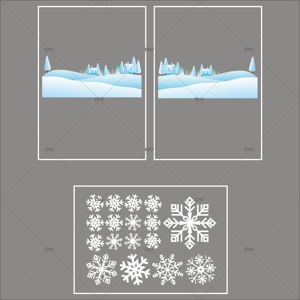 lot-promotionnel-3-stickers-vitrine-noel-ludique-paysage-de-neige-et-cristaux-blancs-electrostatique-sans-colle-repositionnable-DECO-VITRES-KIT157