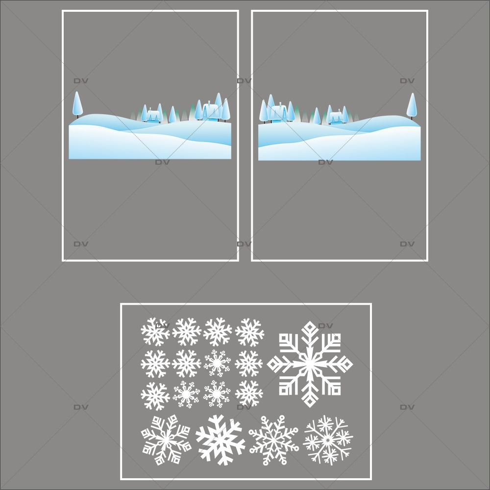 lot-promotionnel-3-stickers-vitrine-noel-ludique-paysage-de-neige-et-cristaux-blancs-electrostatique-sans-colle-repositionnable-DECO-VITRES-KIT158