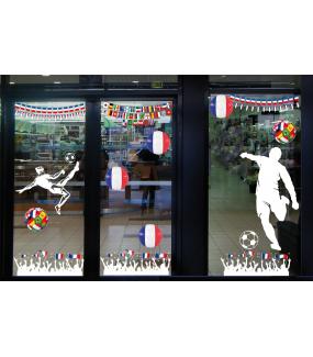 Sticker-footballeur-but-foot-vitrophanie-décoration-vitrine-événementielle-électrostatique-sports-fêtes-sans-colle-repositionnable-réutilisable-DECO-VITRES